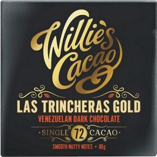 Willie's Cacao Las Trincheras Gold Venezuelan 72% dark chocolate bar