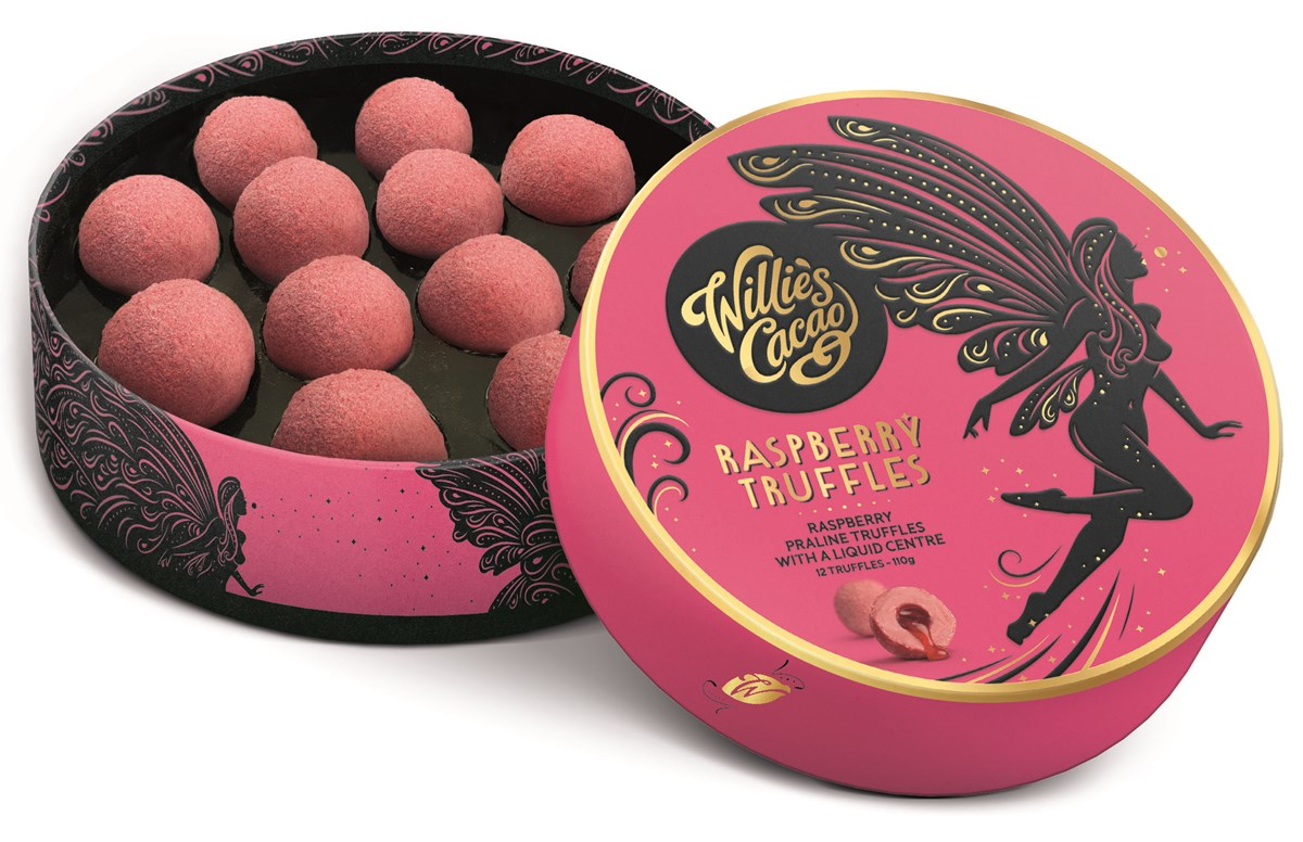 Willie's Cacao Raspberry Truffles