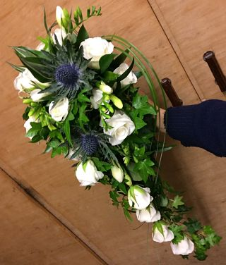White Teardrop Bridal Bouquet