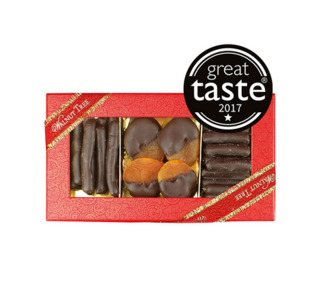 Apricots, Ginger & Lemon Enrobed in Dark Chocolate