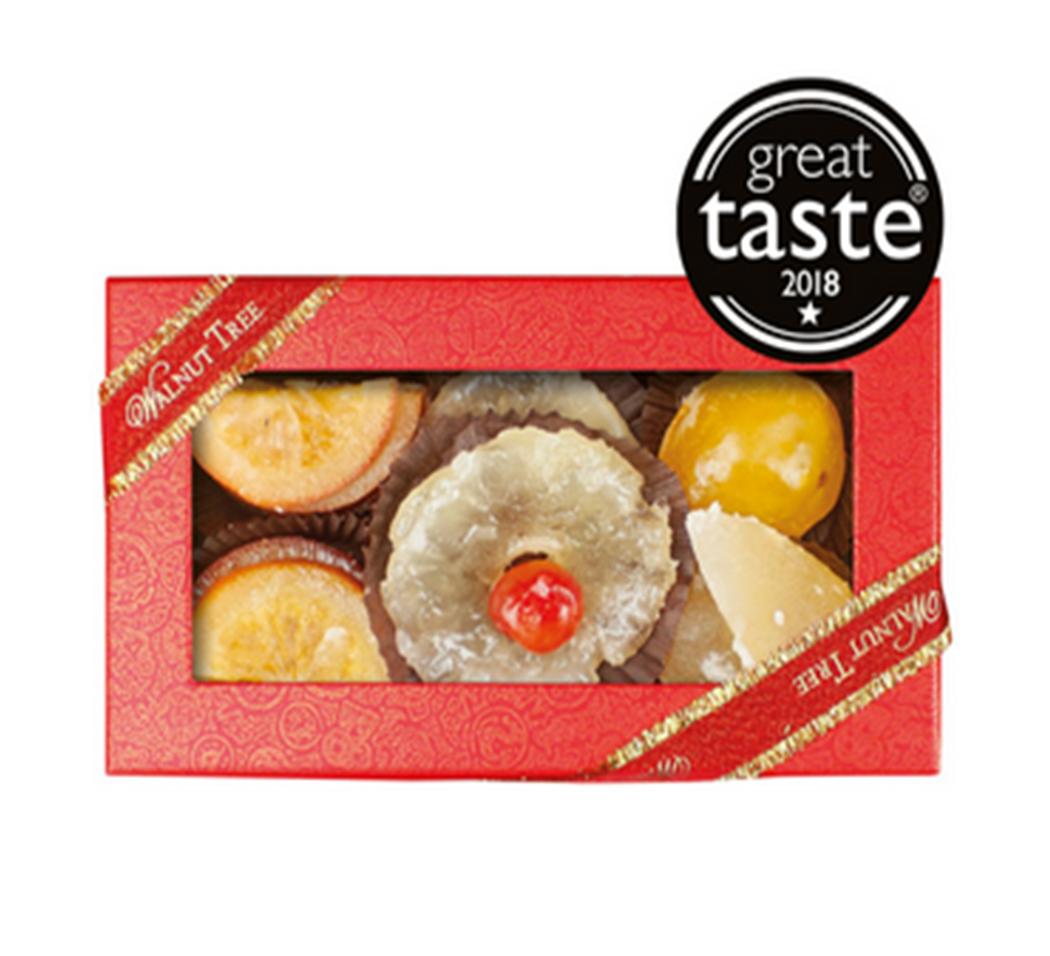 Walnut Tree Medium Glace Fruit Box