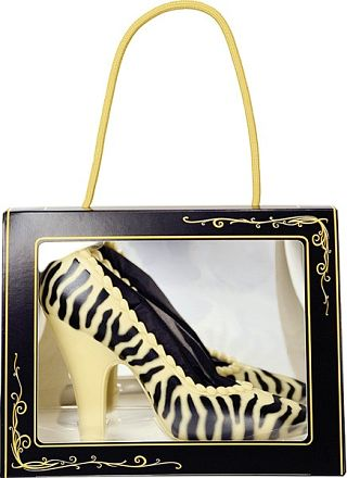 White Chocolate Zebra Print shoe