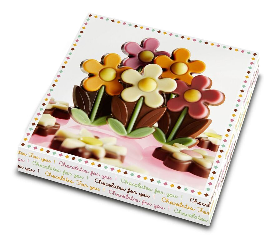 Beautiful Flowers Crafted in Belgian Chocolate