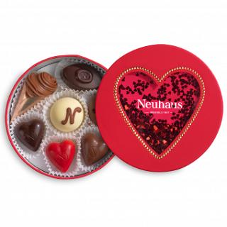 Neuhaus Round Glitter Heart Box