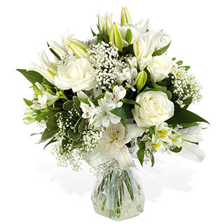 Blizzard White Hand-tied Bouquet