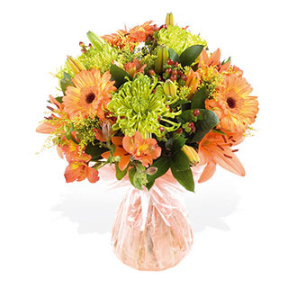 Orange Harmony Hand-tied Bouquet