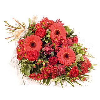 Scarlet Fever Hand-tied Arrangement