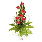 Vase Arrangement of Red Roses
