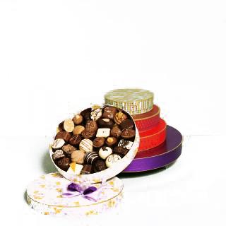 Neuhaus Belgian Chocolate Round Gift Box