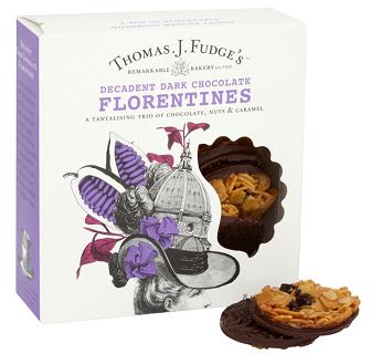 Fudges Dark Chocolate Florentines