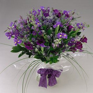 Wild Purple Country Style Bouquet