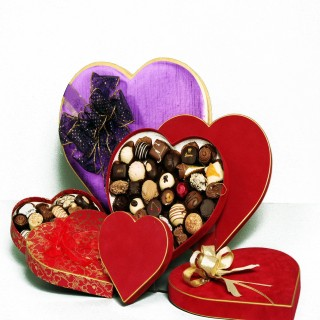 Belgian Chocolates in Heart Box