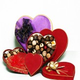 Belgian Chocolates in Heart Box