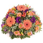 Orange and Blue Posy Arrangement