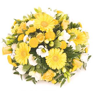 Yellow Posy Floral Arrangement