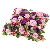 Open Style Pink Cushion Funeral Arrangement