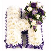 Massed Funeral Letters in Flowers