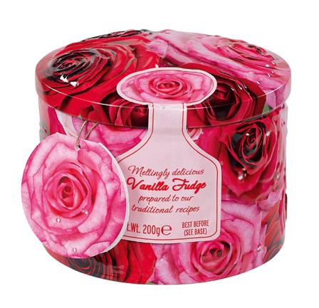 Gardiner's Vanilla Fudge Floral Tin