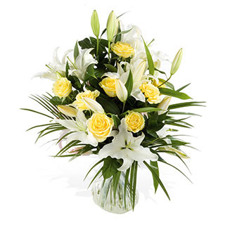 Lemon Sassy Hand-tied Arrangement