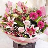 Pink Star Hand-Tied Bouquet