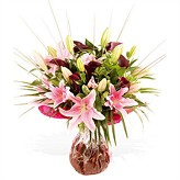 Extravagant  Scented Lilies in a Hand-tied Bouquet