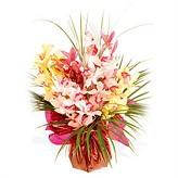 Hand-Tied Oriental Orchid Arrangement
