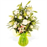 Cream Classic Arrangement of Flowers
