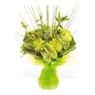 Lime Green Hand-tied Flower Arrangement
