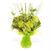 Lime Green Hand-tied Flower Arrangement