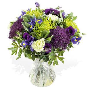 Misty Blue Hand-Tied Bouquet Arrangement