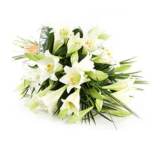 Simple White Lily Bouquet