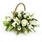 Cream and Ivory Wicker Basket Arrangement