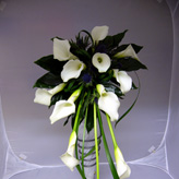 Calla Tear Drop Brides Bouquet