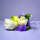 Muscari Blau Wedding Corsage