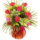 Romantic Red Rose Hand-tied Arrangement