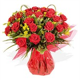 Spectacular Hand-tied Arrangement  of Red Roses