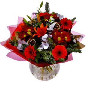 Christmas Celebration Hand-Tied Bouquet