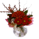 Contemporary Christmas Tied Bouquet