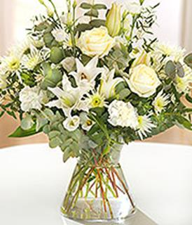 Elegant White Hand Tied Arrangement