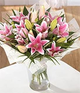 Arrangement of Pink Lilies