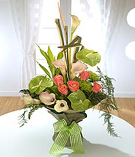 Tropica Calla and Anthurium