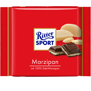 Ritter Sport with Marzipan Filling