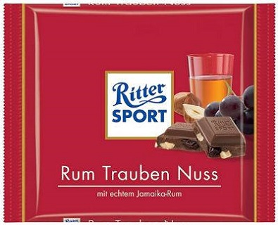 Ritter Sport with Rum, Raisin & Hazelnut
