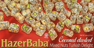 Hazer Baba Coconut Dusted Mixed Nuts Turkish Delight