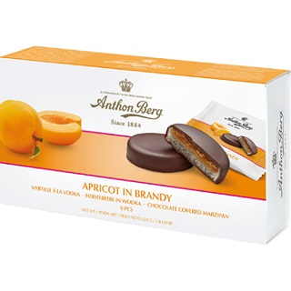 Anthon Berg Apricot in Brandy Chocolate Marzipan Discs