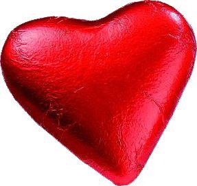 Milk Chocolate Starburst Heart