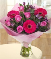 Pretty Pink Hand-tied Arrangement