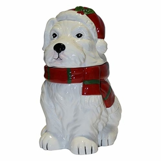 Ceramic Scottie Dog Biscuit Barrel