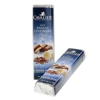 Cavalier Milk Banana Cocoanibs Bar 40g