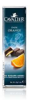 Cavalier Dark Orange Chocolate Bar 40g